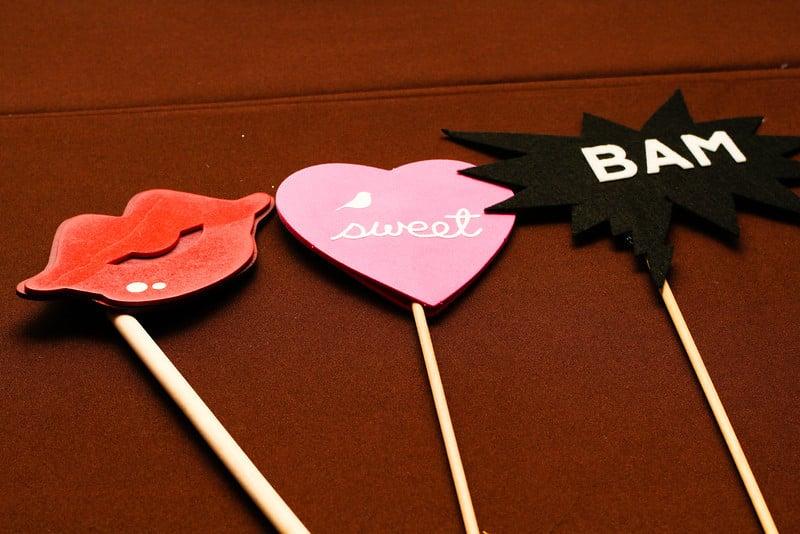 love heart props