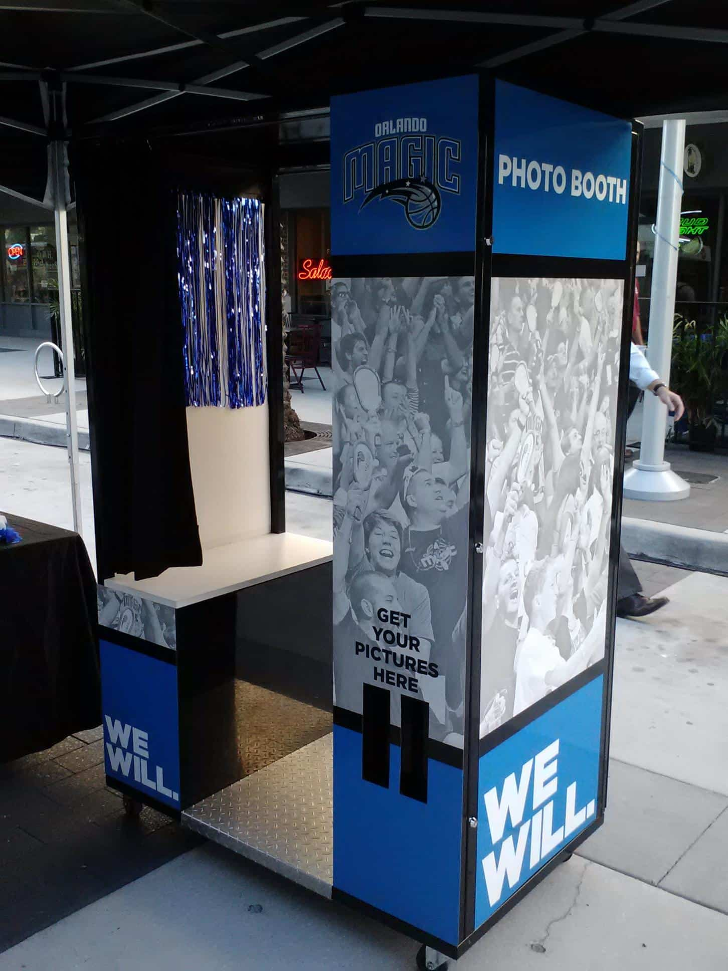photo booth custom wrapped for Orlando Magic