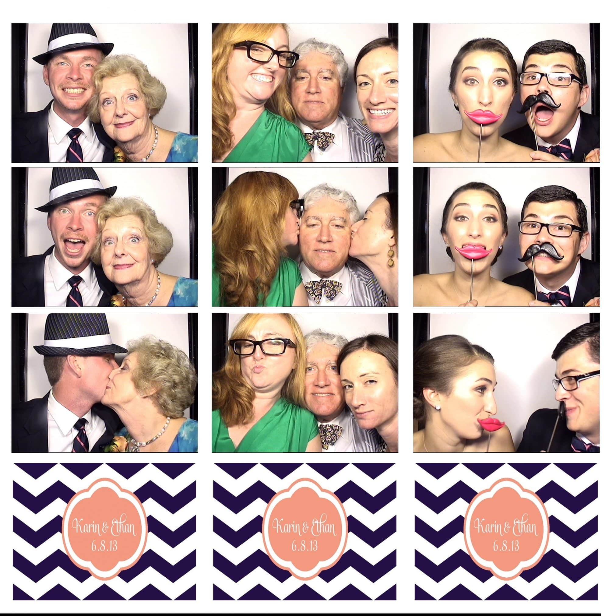 Karin + Ethan wedding at cypress grove playng in the photobooth