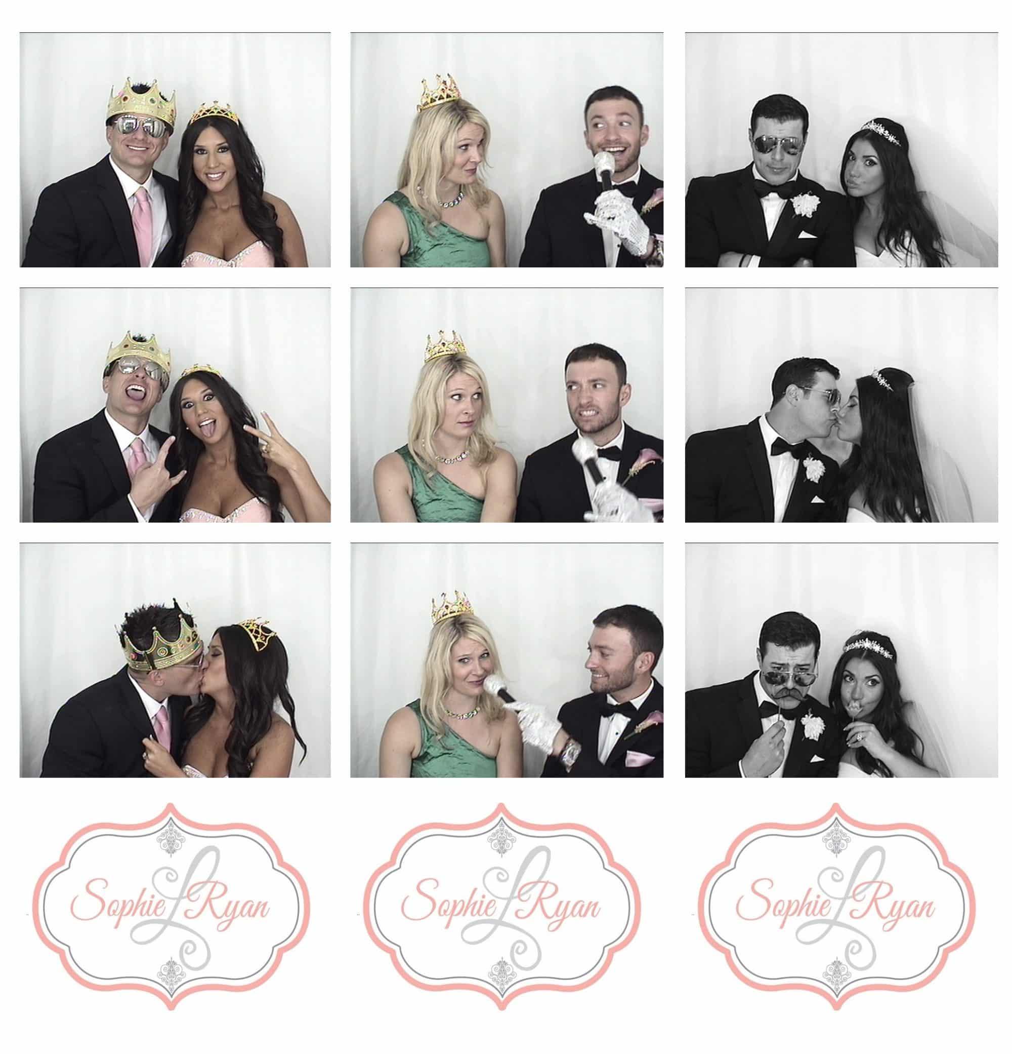 Sophie + Ryan wedding playing in photobooth