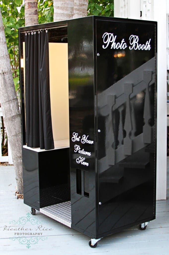 Our Classic photo booth in black