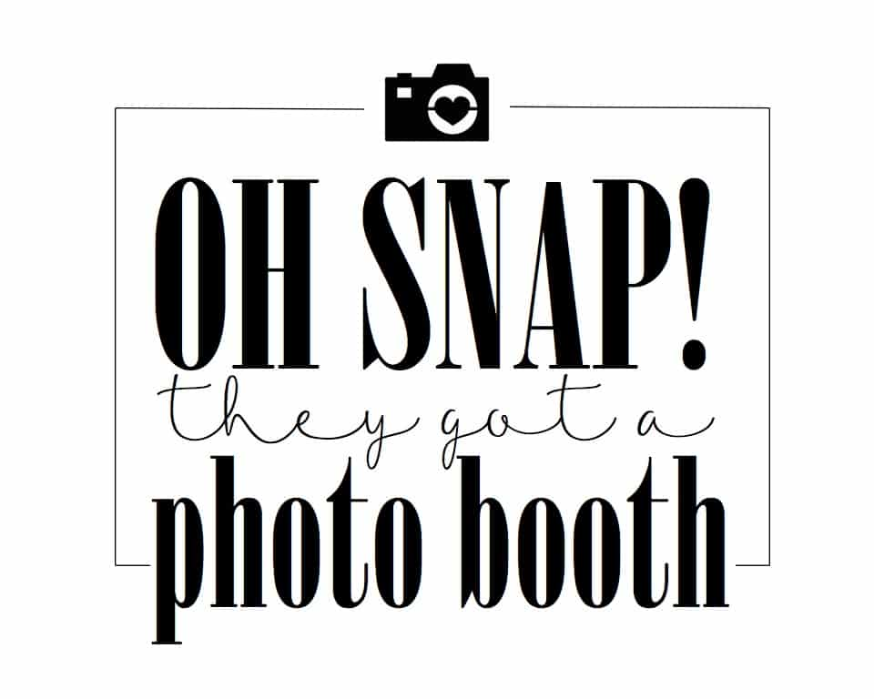 photo regarding Free Printable Photo Booth Sign known as Cost-free Photograph Booth Printables For Your Marriage ceremony Image Booth Rocks
