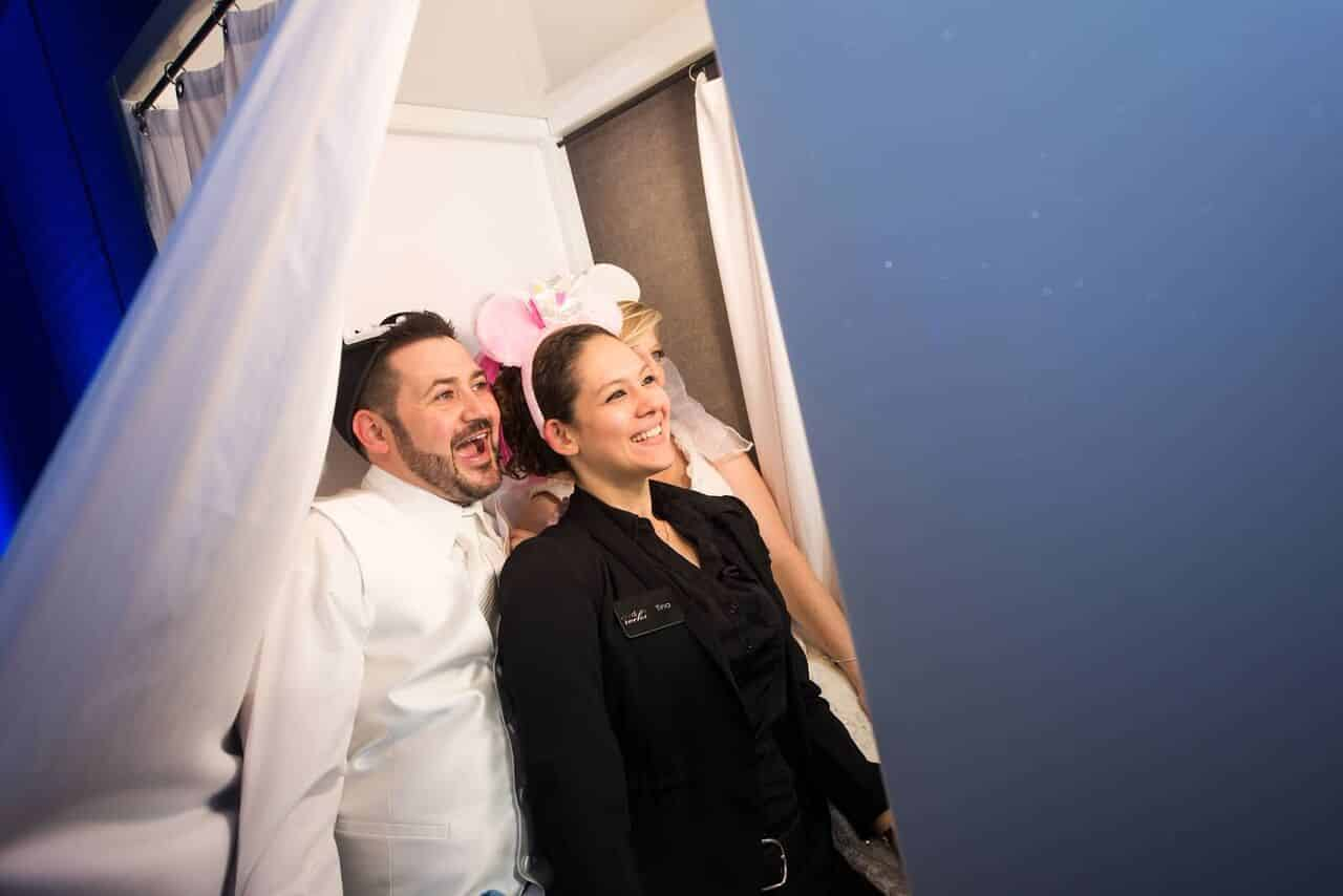 photo booth rocks at winter park civic center wedding