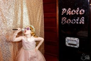 Black Printz Photo Booth with Gold Glitter Backdrop – Ballroom at Church Street