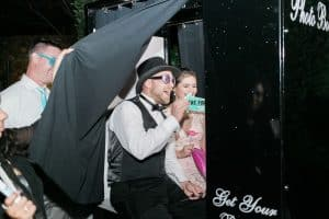 Classic Black Photo Booth at Bella Collina
