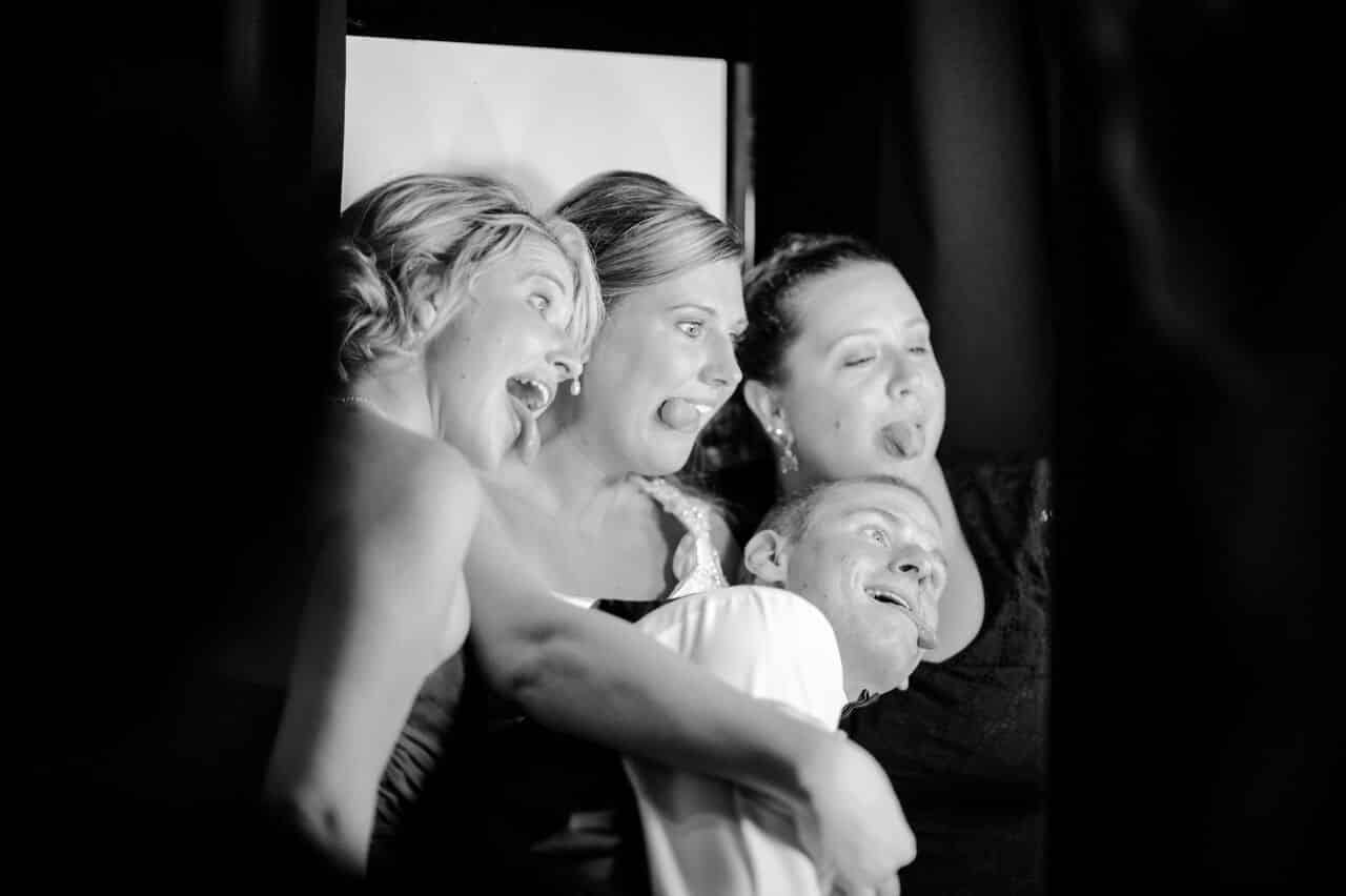 classic black photo booth at timacuan country club wedding
