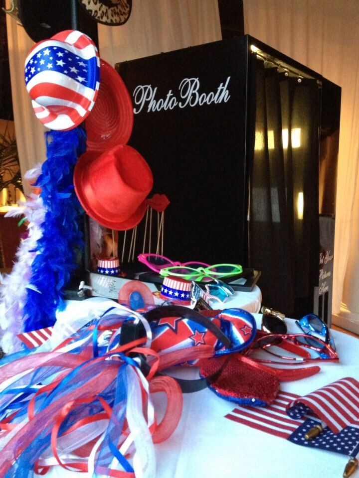 red white and blue fourth of july props