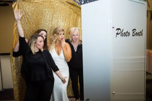Holy Trinity Wedding – White Printz Photo Booth with Gold Backdrop
