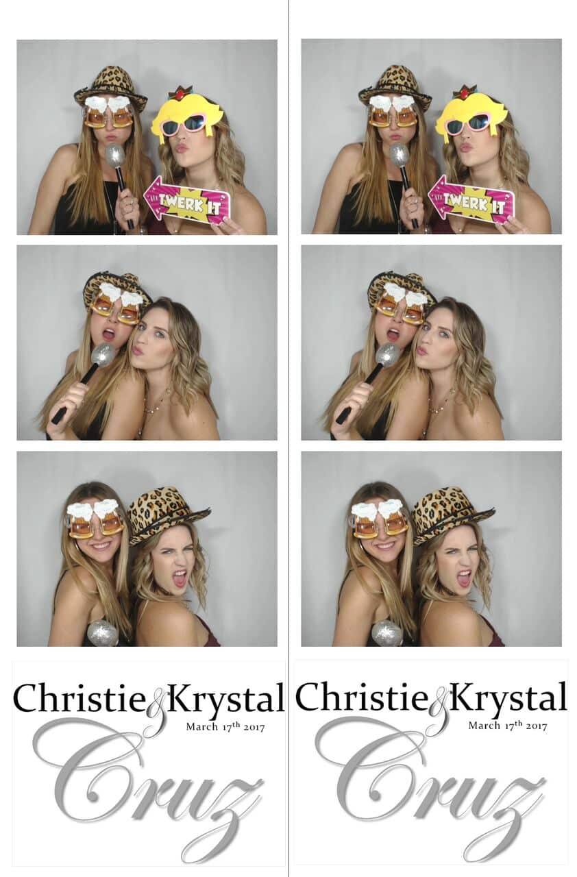 photo strip of white printz photo booth at wedding