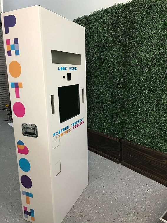 open air photo booth with custom branding