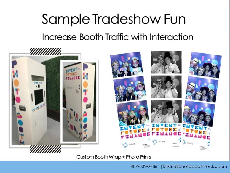 increase traffic for your tradeshow booth with custom photobooth