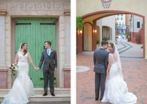 Alexandra + Sean's Portofino Bay Wedding – Black Printz Glitter Background Booth