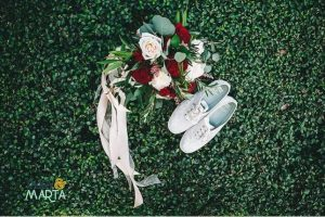 Joscelyn + Matt's Mission Inn Wedding – White Printz Glitter Background Booth