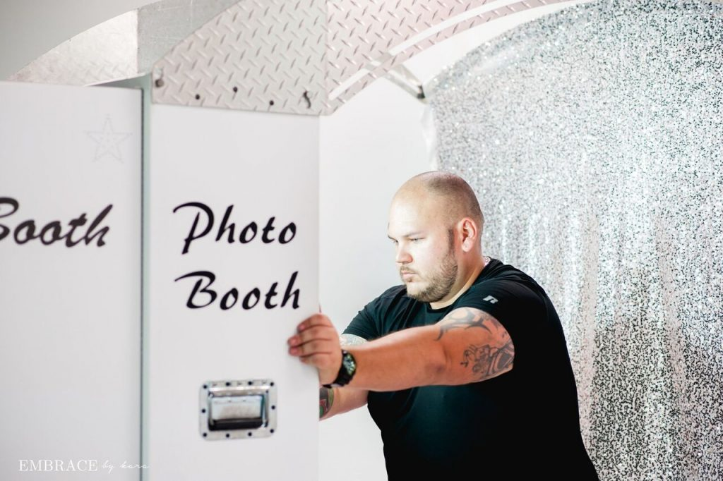 JJ setting up a photo booth
