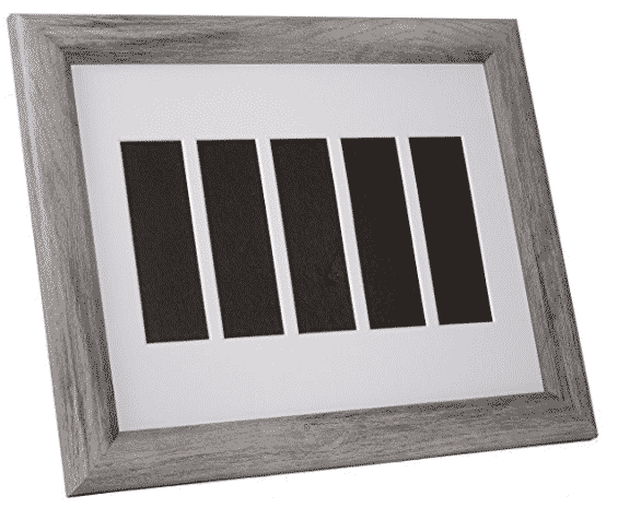 picture frame that holds four photo booth strips