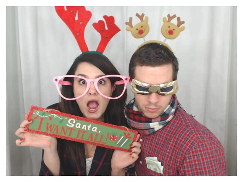 Christmas sign prop and reindeer antlers