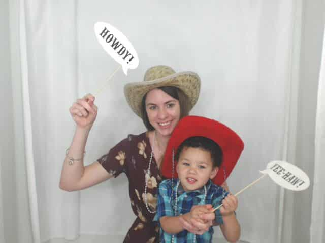 Howdy and Yeehaw sign props