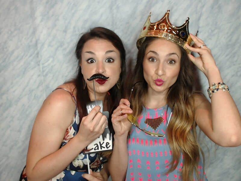 girls with mustache and crown props