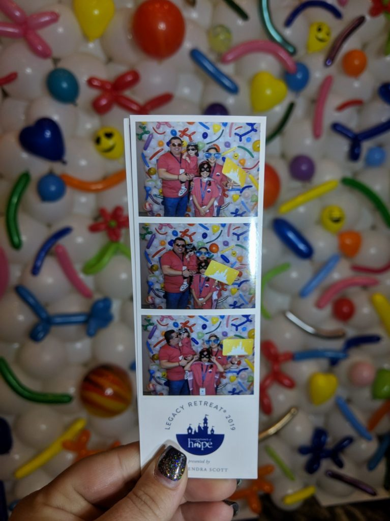 photo booth strip with custom balloon background
