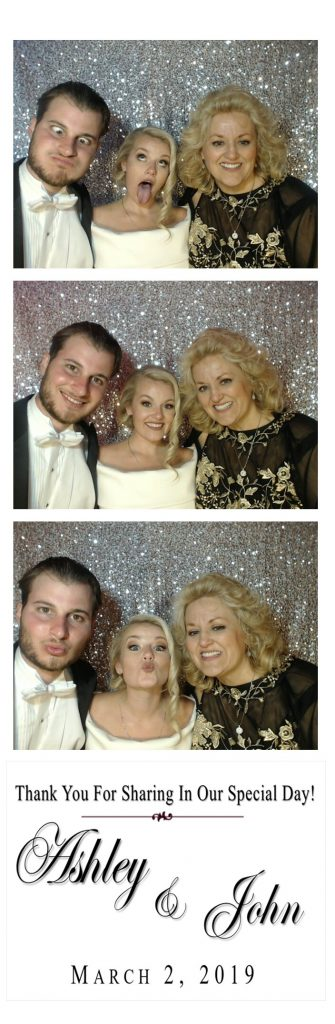 bride making silly faces photo strip