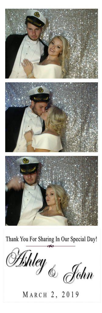 bride and groom sailor hat photo strip