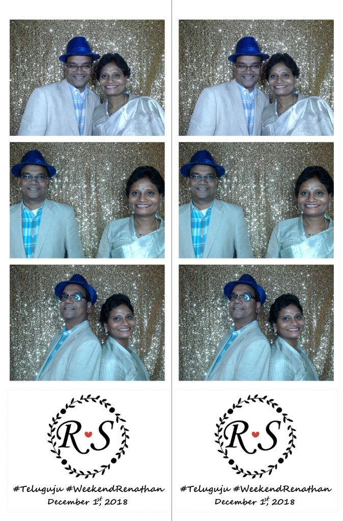 indian couple in photo booth