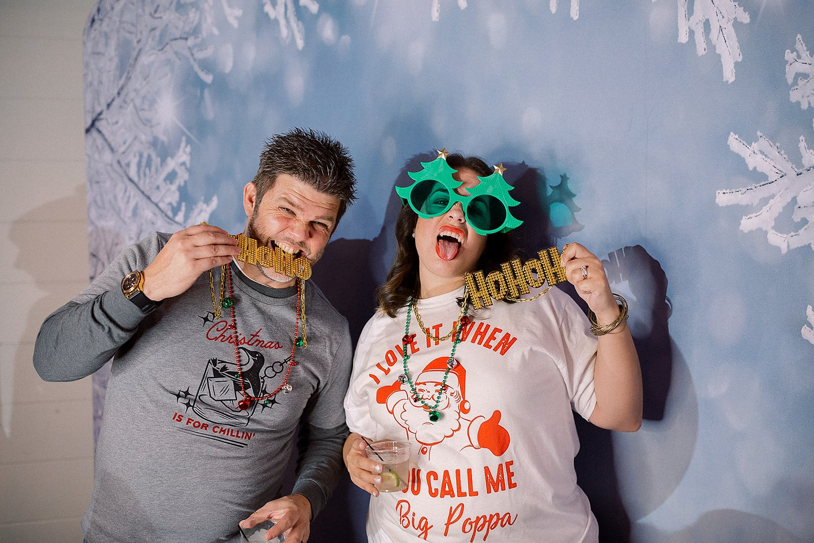 winter wonderland backdrop with digital booth