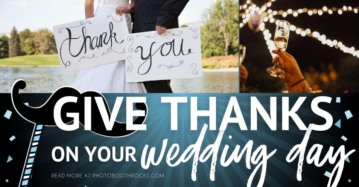 give thanks on wedding day